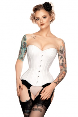 Gorset overbust classic white